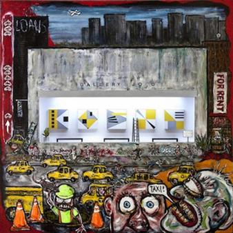 """Art Imitates Art Acrylic on Canvas 36"""" x 36"""""""