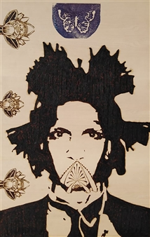 "Sguardi d'Artista Pyrography 35.5"" x 23"""