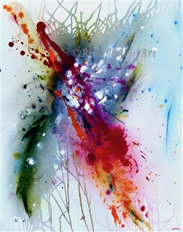 "Abstract #5 Acrylic on Canvas 30"" x 24"""