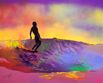"""Chasing Dreams Spray Paint on Canvas 24"""" x 30"""""""