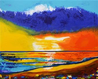 "West Sunset Acrylic on Canvas 24"" x 30"""