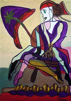 """Woman in Decision Oil on Canvas 39.5"""" x 27.5"""""""
