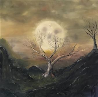 "Origin of Darkness Oil on Canvas 40"" x 36"""