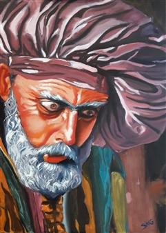 """El Loco de Betanzos Oil on Canvas 27.5"""" x 19.5"""""""