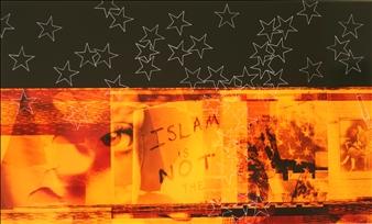 """a sky of stars Mixed Media on Aluminum 23.6"""" x 39.4"""""""