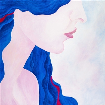 "Madona One Acrylic on Canvas 36"" x 36"""