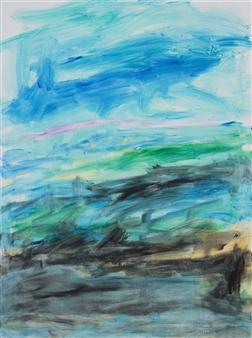 "Block Island Acrylic on Canvas 40"" x 30"""