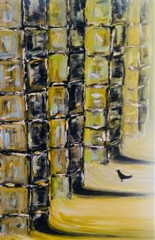 "Ruins II Acrylic on Canvas 36"" x 24"""