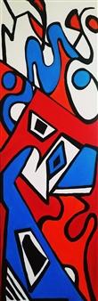 "Friddy Acrylic with Satin Varnish Polymer 72"" x 24"""