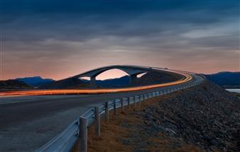 "Blue hour with the Atlantic Ocean Road - Rie Bønsøe  - Norway Photograph 0"" x 0"""