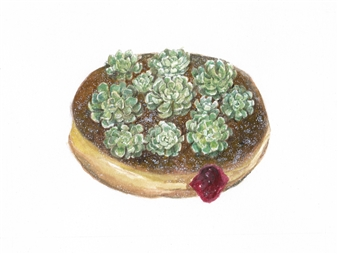 Jelly-Filled Succulent Donut
