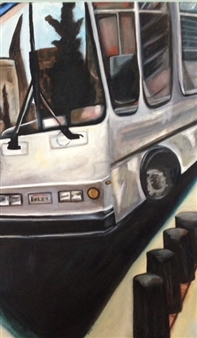 """Stop Bus! Oil on Canvas 40"""" x 24"""""""