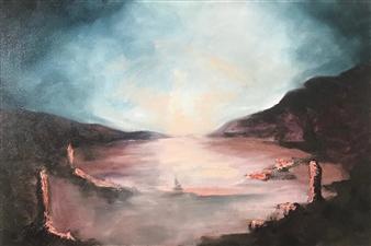 "Morning Mist Oil on Canvas 23.5"" x 16"""