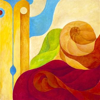"""Concept 1001 Acrylic on Canvas 24"""" x 24"""""""