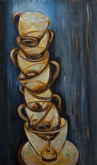 """Torre"" Acrylic on Canvas 39.5"" x 20"""