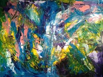 "Anticipation Oil on Canvas 36"" x 48"""