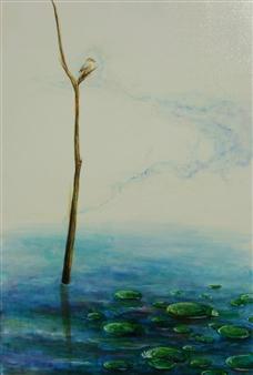 "Mozubotch Oil on Canvas 36"" x 23.5"""