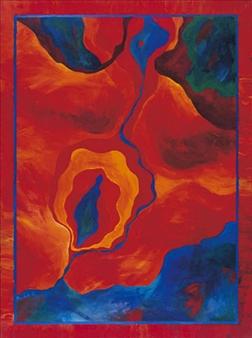 "Cosmos Acrylic on Canvas 40"" x 30"""