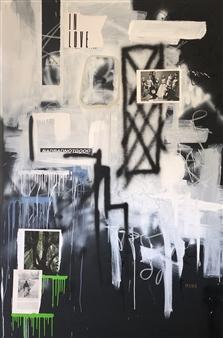 "Precious Minutes Mixed Media on Canvas 72"" x 48"""