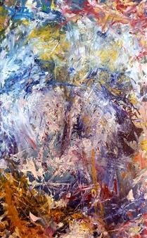 "Trauma 9: Self Portrait Oil on Canvas 48"" x 30"""