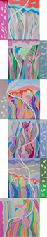 """Dance To The Earth Acrylic on Canvas 60"""" x 12"""""""