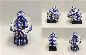 """SWAMI III-III Bronze & Gold Leaf 8"""" x 5.5"""" x 7"""""""