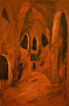 "Rhodes Naos 2 Oil on Canvas 27.5"" x 18"""