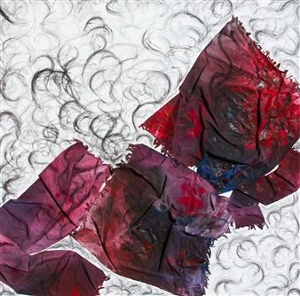 "Untitled 9 Acrylic & Mixed Media on Canvas 39.5"" x 39.5"""