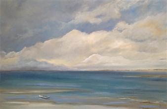 """Sandy Oil on Canvas 25"""" x 37"""""""
