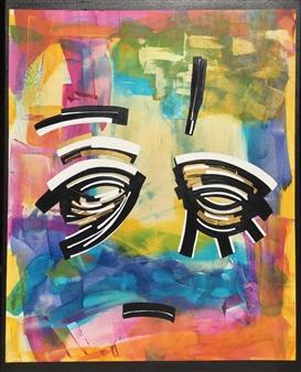 "Reflet d'Ame 1 Acrylic on Canvas 32.5"" x 26"""