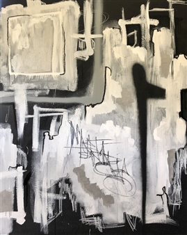 """I Cloak Myself in the City of You Mixed Media on Canvas 60"""" x 48"""""""