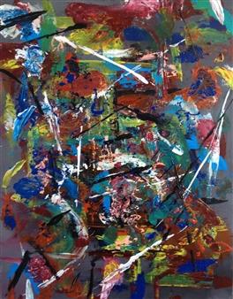 """Chaos Acrylic on Canvas 20"""" x 16"""""""