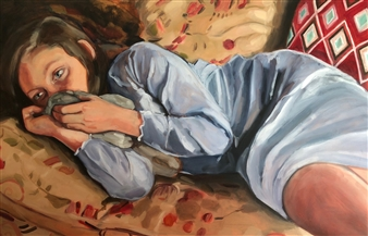 """For the Love of Martha Oil on Panel 24"""" x 36"""""""