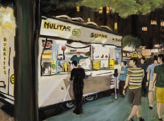 """Danny's Tacos Oil on Canvas 18"""" x 24"""""""