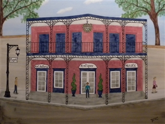 """The French Quarter Watercolor on Board 19"""" x 23"""""""