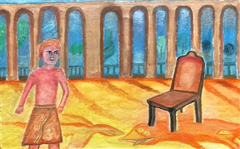 """Caesar and Rome Oil on Canvas 15.5"""" x 23.5"""""""