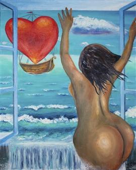 """Open Acrylic & Oil on Canvas 30"""" x 24"""""""