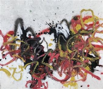 """Sun 2 Acrylic & Oil on Canvas 29"""" x 32"""""""