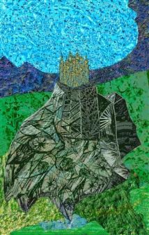 """Kir Fortress Digital Print on Canvas 40"""" x 26"""""""