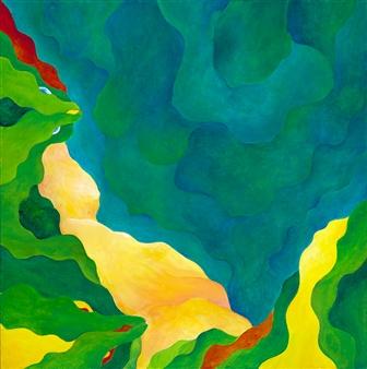"""Turquoise Coast Acrylic on Canvas 24"""" x 24"""""""
