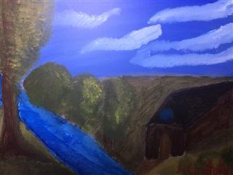 "Meadow creek Acrylic on Canvas 18"" x 24"""