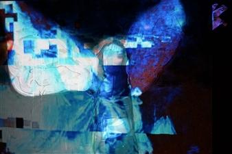 "Immortalité Digitale IV Mixed Media on Canvas 20"" x 28"""