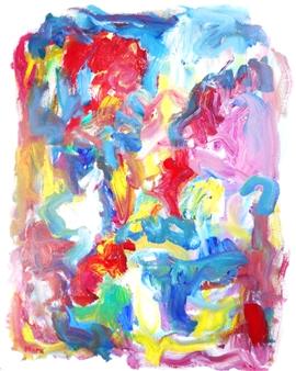 "Winter Flames Acrylic on Canvas 30"" x 24"""