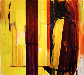 """City of Glass 31 –  (A Study in Violet) Oil on Canvas 71"""" x 79"""""""