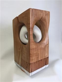 "Cocoon Wood, Cedar, Shihuahuaco & Alabaster 18.5"" x 10.5"" x 9"""