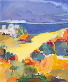 """Santorini Acrylic on Canvas 24"""" x 20"""""""