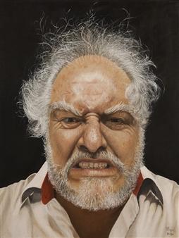 "Toño en Otoño  (Tony in Fall) Oil on Stretched Canvas Board 19.5"" x 15.5"""