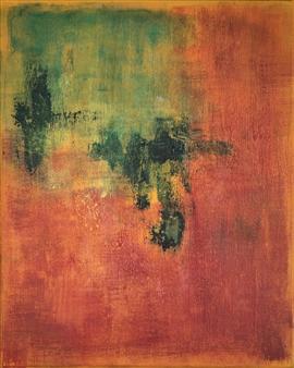"Cherry Spring Acrylic on Canvas 20"" x 16"""