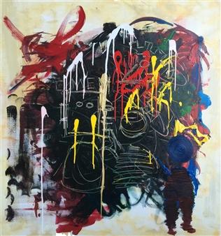 "ReFleCT Acrylic on Canvas 46"" x 46"""