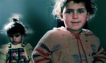 "Refugee Residents, Jordan Photograph on Metallic Paper 11"" x 18.5"""